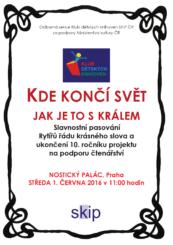 pozvánka na slavnostní pasování Praha